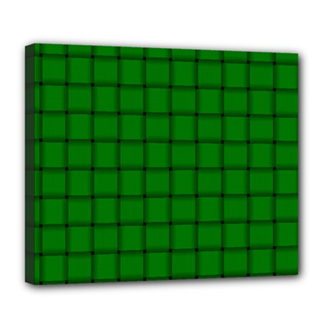 Green Weave Deluxe Canvas 24  X 20  (framed) by BestCustomGiftsForYou
