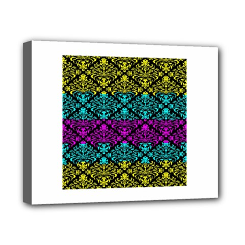 Cmyk Damask Flourish Pattern Canvas 10  X 8  (framed)