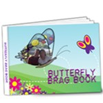Delux 9X7 Butterfly Brag Book - 9x7 Deluxe Photo Book (20 pages)