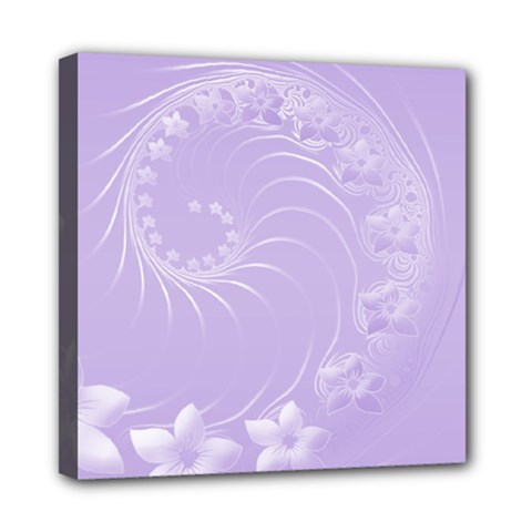 Light Violet Abstract Flowers Mini Canvas 8  X 8  (framed) by BestCustomGiftsForYou