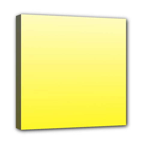 Cream To Cadmium Yellow Gradient Mini Canvas 8  X 8  (framed)