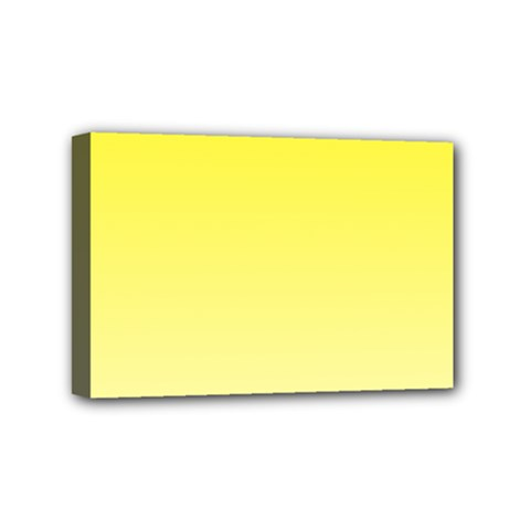 Cadmium Yellow To Cream Gradient Mini Canvas 6  X 4  (framed) by BestCustomGiftsForYou
