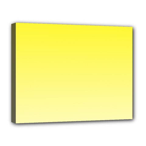 Cadmium Yellow To Cream Gradient Canvas 14  X 11  (framed) by BestCustomGiftsForYou
