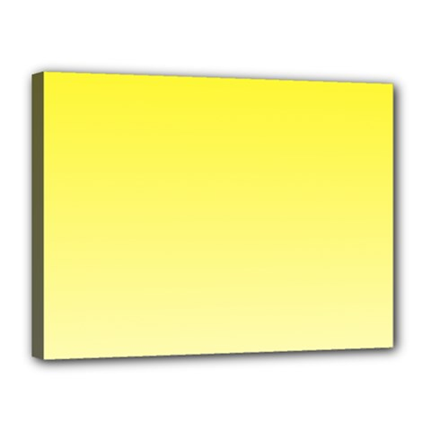 Cadmium Yellow To Cream Gradient Canvas 16  X 12  (framed) by BestCustomGiftsForYou