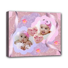 pink & purple swirls 10x8 canvas stretched - Canvas 10  x 8  (Stretched)