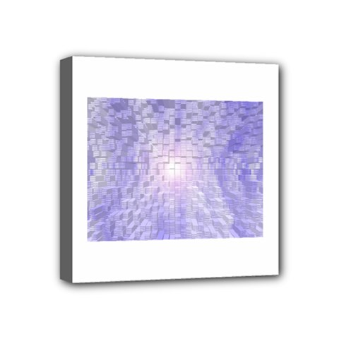 Purple Cubic Typography Mini Canvas 4  X 4  (framed) by TheZiNES