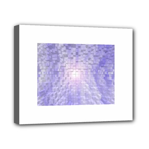 Purple Cubic Typography Canvas 10  X 8  (framed) by TheZiNES