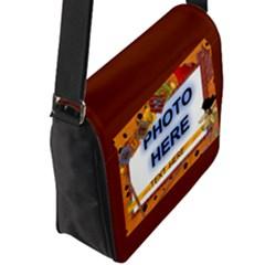 Flap Closure Messenger Bag (L)