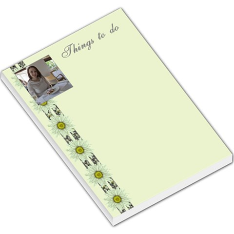 Floral Things To Do Large Memo By Deborah   Large Memo Pads   Bfaf40aai4q7   Www Artscow Com