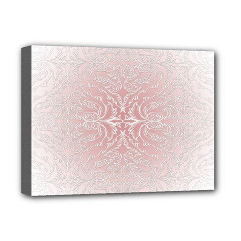 Elegant Damask Deluxe Canvas 16  X 12  (framed)  by ADIStyle