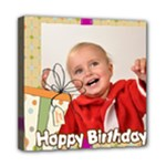 happy birthday - Mini Canvas 8  x 8  (Stretched)