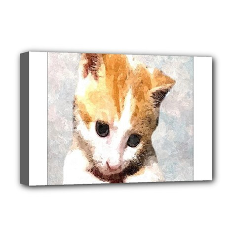 Sweet Face ;) Deluxe Canvas 18  X 12  (framed)