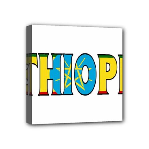 Ethiopa Mini Canvas 4  X 4  (framed) by worldbanners