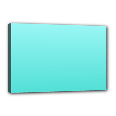 Celeste To Turquoise Gradient Canvas 18  X 12  (framed) by BestCustomGiftsForYou