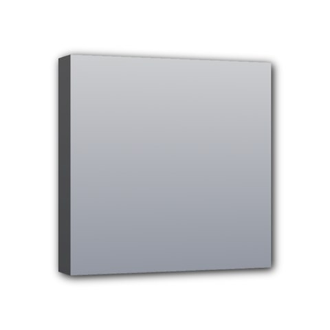 Gainsboro To Roman Silver Gradient Mini Canvas 4  X 4  (framed)