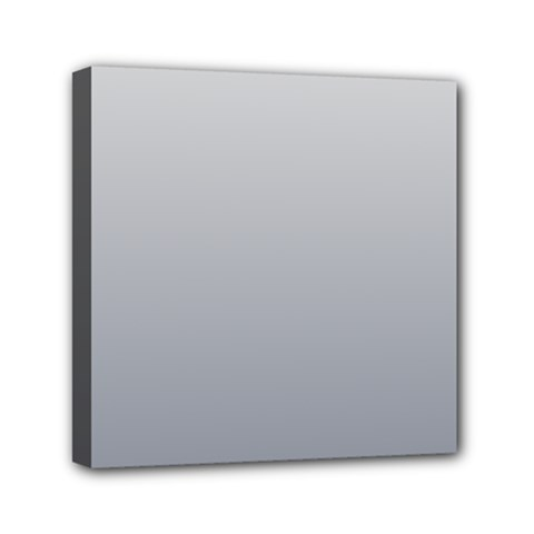 Gainsboro To Roman Silver Gradient Mini Canvas 6  X 6  (framed)