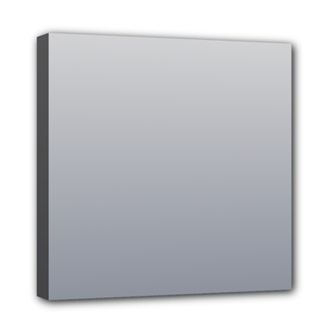 Gainsboro To Roman Silver Gradient Mini Canvas 8  X 8  (framed) by BestCustomGiftsForYou