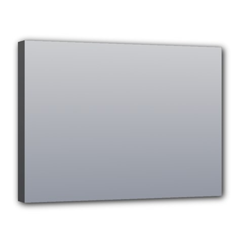 Gainsboro To Roman Silver Gradient Canvas 16  X 12  (framed) by BestCustomGiftsForYou