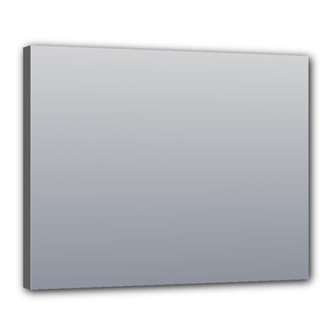 Gainsboro To Roman Silver Gradient Canvas 20  X 16  (framed) by BestCustomGiftsForYou