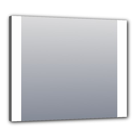 Gainsboro To Roman Silver Gradient Canvas 24  X 20  (framed) by BestCustomGiftsForYou