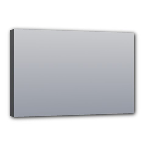 Gainsboro To Roman Silver Gradient Canvas 18  X 12  (framed) by BestCustomGiftsForYou