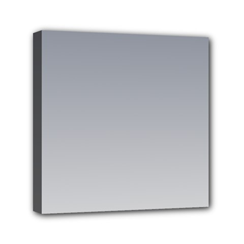 Roman Silver To Gainsboro Gradient Mini Canvas 6  X 6  (framed) by BestCustomGiftsForYou