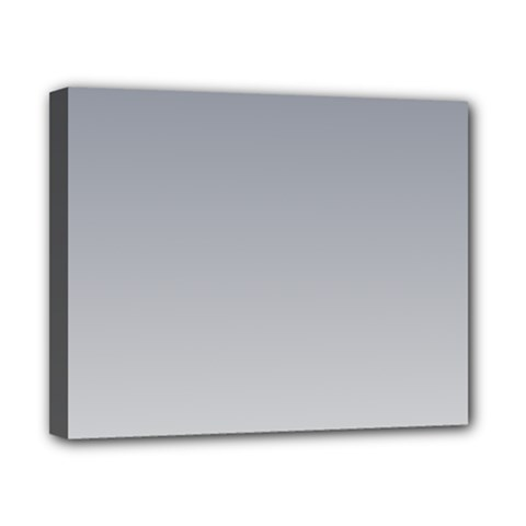 Roman Silver To Gainsboro Gradient Canvas 10  X 8  (framed) by BestCustomGiftsForYou