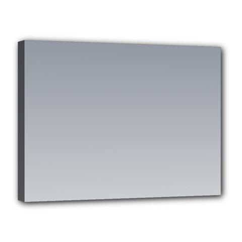 Roman Silver To Gainsboro Gradient Canvas 16  X 12  (framed) by BestCustomGiftsForYou