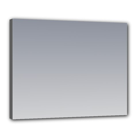Roman Silver To Gainsboro Gradient Canvas 20  X 16  (framed) by BestCustomGiftsForYou