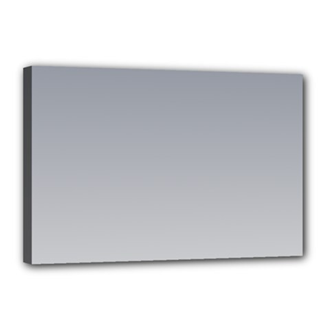 Roman Silver To Gainsboro Gradient Canvas 18  X 12  (framed) by BestCustomGiftsForYou