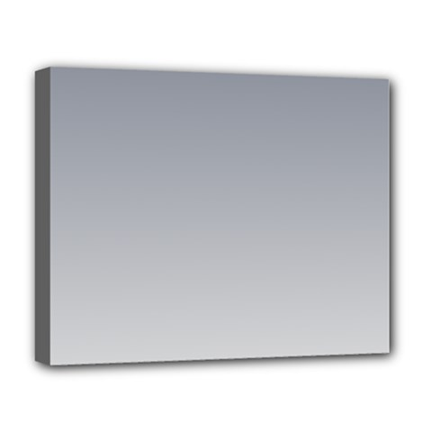 Roman Silver To Gainsboro Gradient Deluxe Canvas 20  X 16  (framed) by BestCustomGiftsForYou