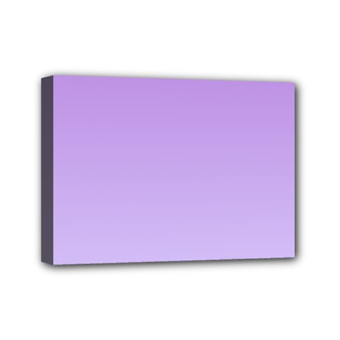 Lavender To Pale Lavender Gradient Mini Canvas 7  X 5  (framed) by BestCustomGiftsForYou