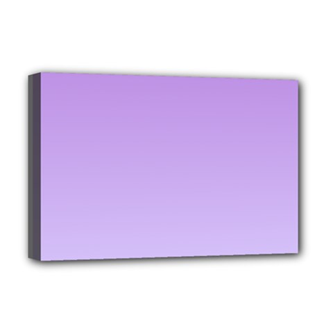 Lavender To Pale Lavender Gradient Deluxe Canvas 18  X 12  (framed) by BestCustomGiftsForYou