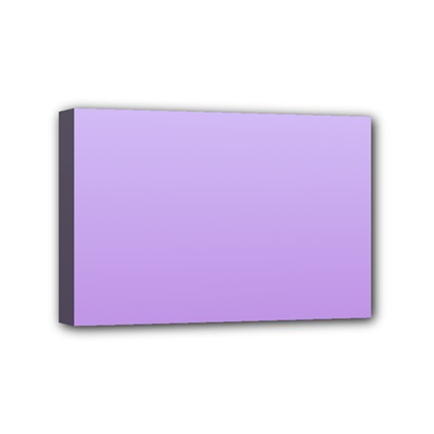 Pale Lavender To Lavender Gradient Mini Canvas 6  X 4  (framed) by BestCustomGiftsForYou