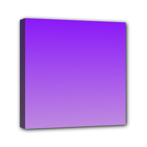 Violet To Wisteria Gradient Mini Canvas 6  X 6  (framed) by BestCustomGiftsForYou