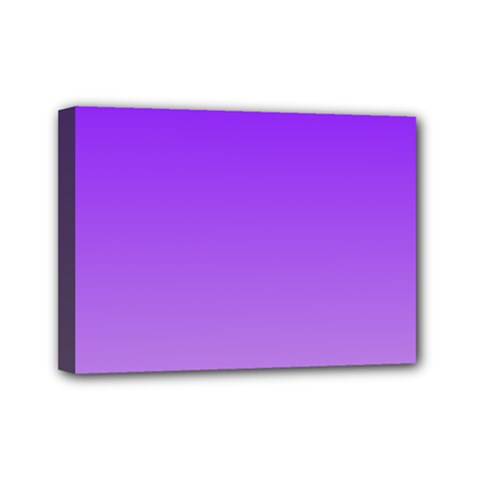 Violet To Wisteria Gradient Mini Canvas 7  X 5  (framed) by BestCustomGiftsForYou