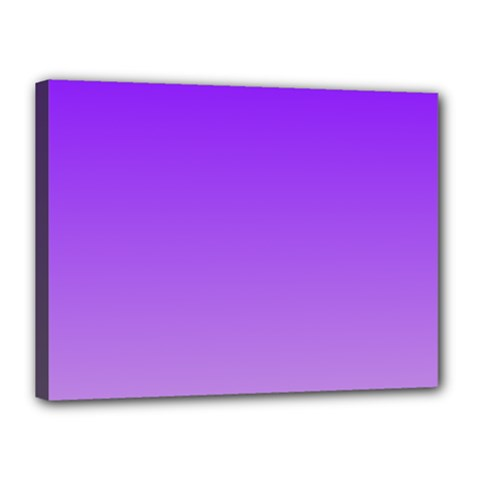 Violet To Wisteria Gradient Canvas 16  X 12  (framed) by BestCustomGiftsForYou