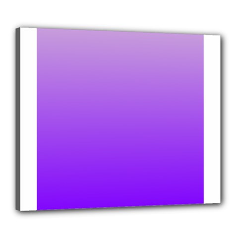 Wisteria To Violet Gradient Canvas 24  X 20  (framed) by BestCustomGiftsForYou