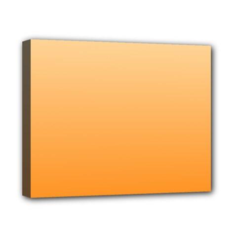 Peach To Orange Gradient Canvas 10  x 8  (Framed)