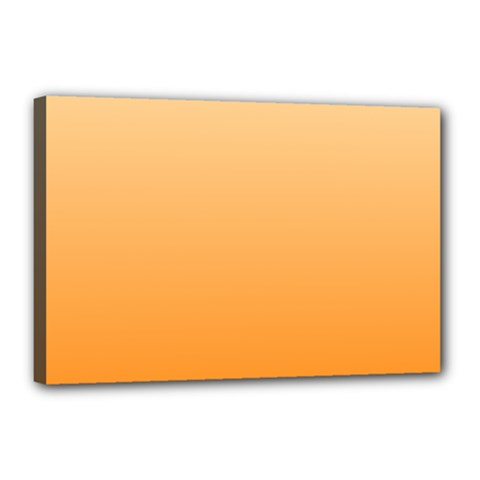 Peach To Orange Gradient Canvas 18  X 12  (framed) by BestCustomGiftsForYou