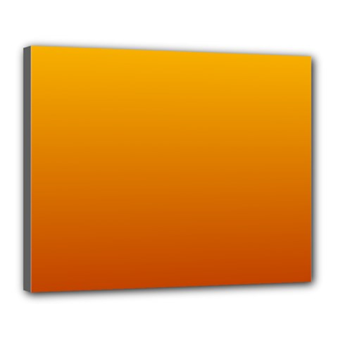Amber To Mahogany Gradient Canvas 20  X 16  (framed) by BestCustomGiftsForYou