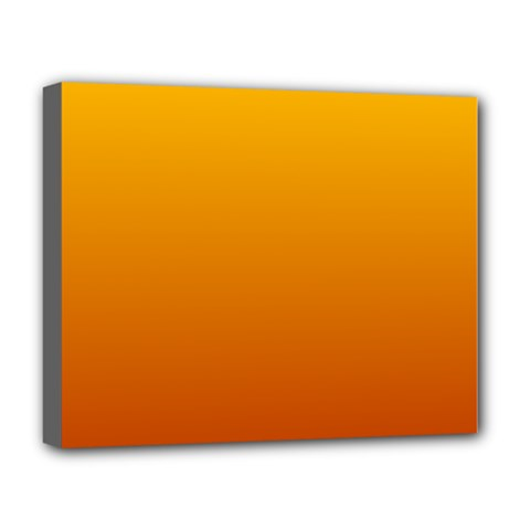 Amber To Mahogany Gradient Deluxe Canvas 20  X 16  (framed) by BestCustomGiftsForYou
