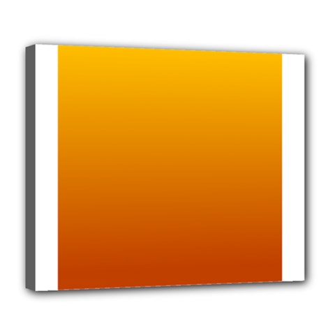Amber To Mahogany Gradient Deluxe Canvas 24  X 20  (framed) by BestCustomGiftsForYou