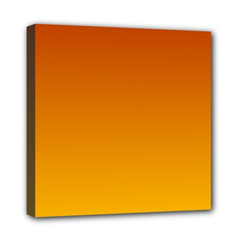 Mahogany To Amber Gradient Mini Canvas 8  X 8  (framed) by BestCustomGiftsForYou
