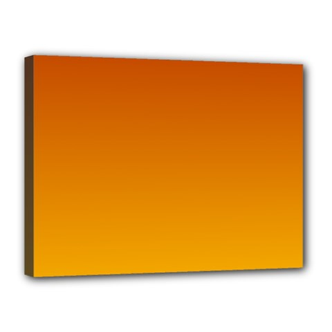 Mahogany To Amber Gradient Canvas 16  x 12  (Framed) by BestCustomGiftsForYou
