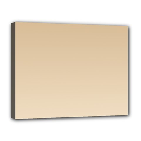 Tan To Champagne Gradient Canvas 14  X 11  (framed) by BestCustomGiftsForYou