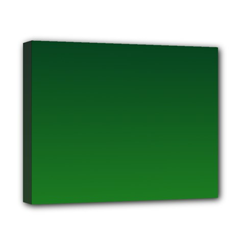Dark Green To Green Gradient Canvas 10  X 8  (framed)