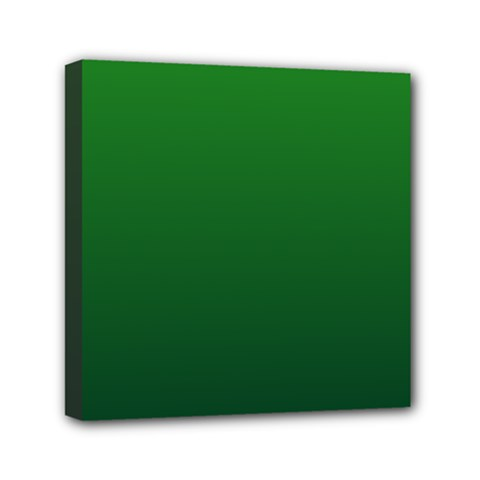 Green To Dark Green Gradient Mini Canvas 6  x 6  (Framed)