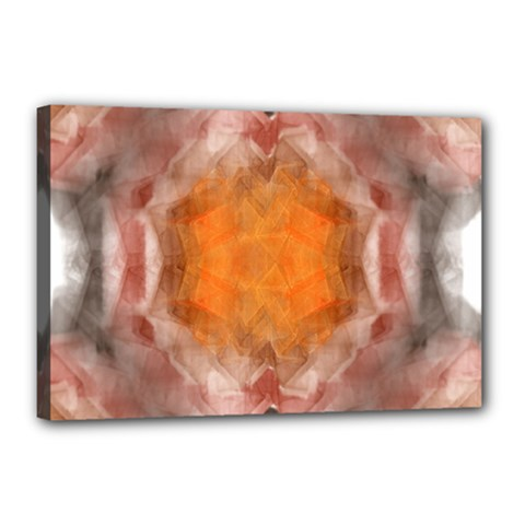 Seamless Background Fractal Canvas 18  X 12  (framed) by hlehnerer