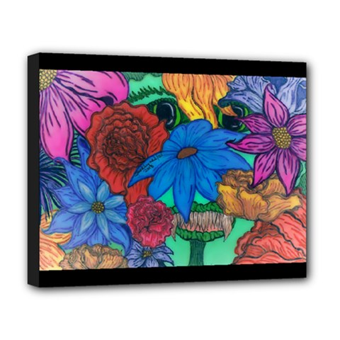 Creepy Beauty Deluxe Canvas 20  X 16  (framed) by JacklyneMae
